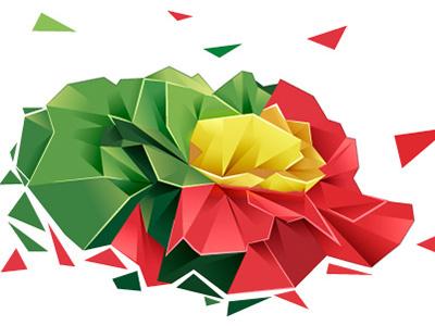 Polygon Flower polygon flower revolution illustrtion freedom abril red carnation cravo portugal