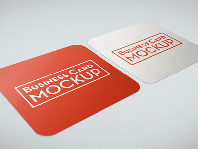 Free Business card mockup freebie showcase portfolio template background round corners square mockup card business card free