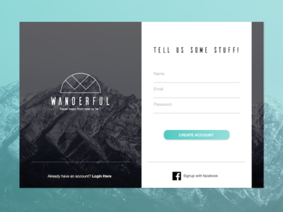 Daily UI Challenge 001: Sign Up Modal