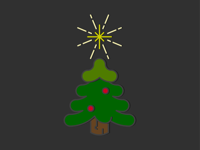 O' Christmas Tree apple pencil ipad pro inkpad vector star ornament holiday festive tree christmas tree christmas