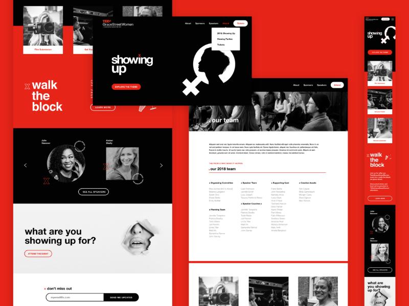 Tedx sitedesign dribbble