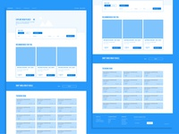Airline Homepage Wireframes