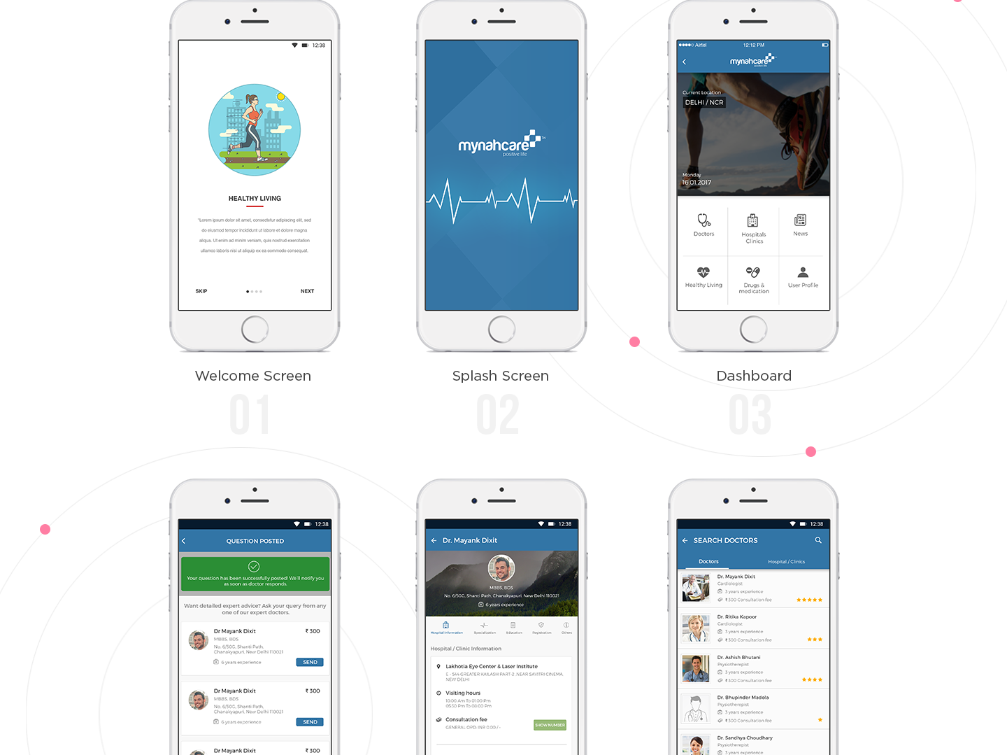 Mobile App for Doctors by Mayank Dixit on Dribbble
