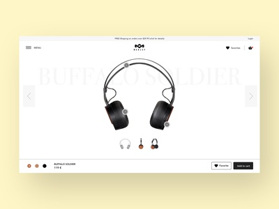 Marley headphones product page concept