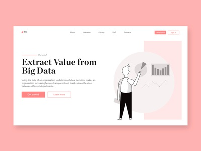 Data Value - concept homepage design