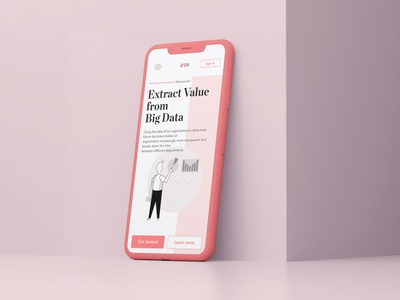 Data Value - concept mobile design