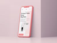 Data Value - concept mobile design
