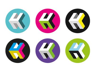 Personal logo logo design monogram circle round heath lewis logo design brand branding