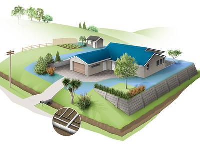 House plot architecture illustration photoshop house