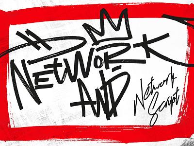 Network Font Main Page hello dribbble font typography network handmade creativemarket script