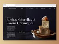Beauté Brand Web Page Design