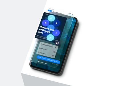 iPhone X UI Mockup