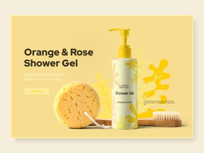 Shower Gel Package and Banner Design 🧽🚿