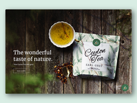 Tea Branding Landing Page and Packaging