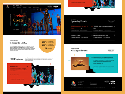 Long Island High School for the Arts—Homepage 02 color palette long island art school vector shapes typography ui design web design web