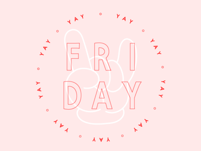 Friyay design graphic design pink pastel typography illustration minimal mickey mouse friyay friday tgif