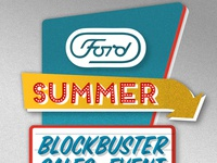 Ford drive-in signage