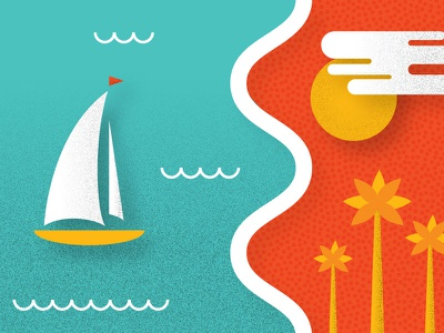 Cannes France Illustration cannes vector grain beach boat palm tree