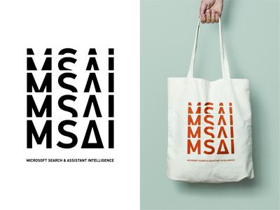 MSAI branding din branding microsoft swiss swiss style swiss design retro brand design print typography brand