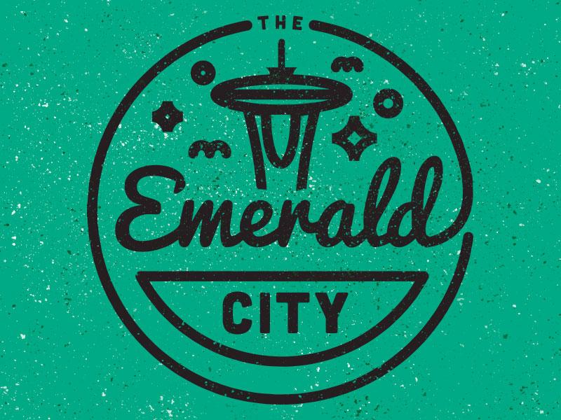 The Emerald City seattle emerald badge logo