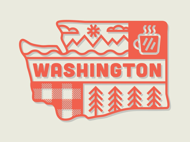 Washington for Tully's Coffee tullys badge logo washington