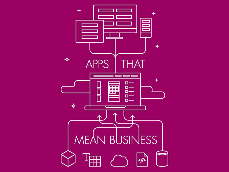 Apps that mean business cloud powerapps microsoft line art
