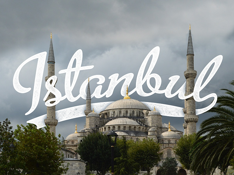 Istanbul photypography bluemosque istanbul script typography photography