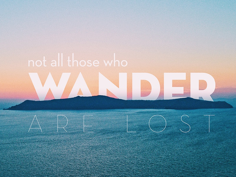 Wander travel typography type greece photography