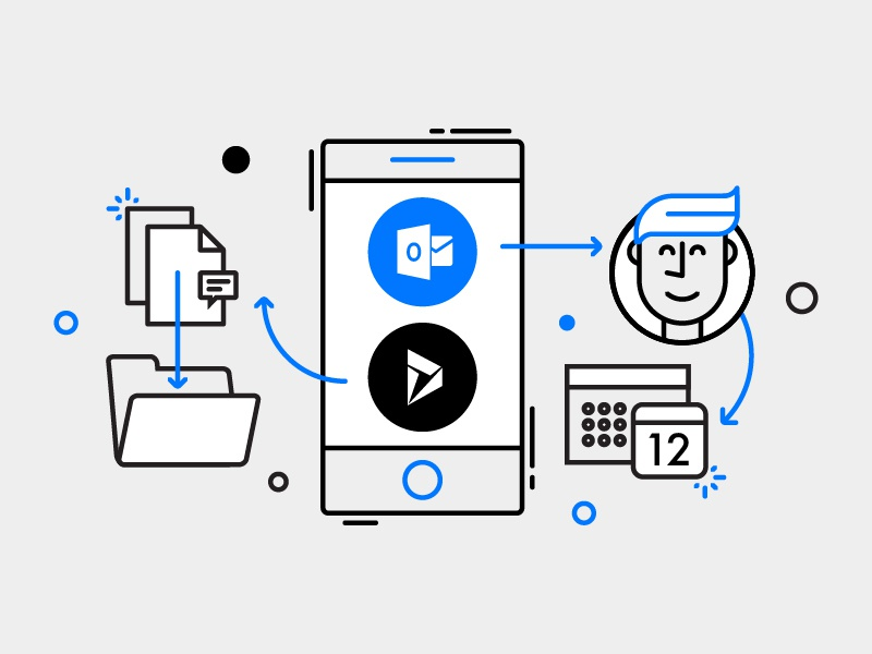 Microsoft Flow - buttons illustration mobile people business office microsoft illustration monoline