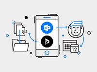 Microsoft Flow - buttons illustration