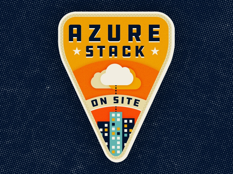 Camp Azure camp buildings cloud illustration badge azure