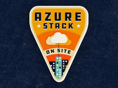 Camp Azure camp buildings cloud illustration badge azure