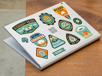 Camp Azure laptop stickers