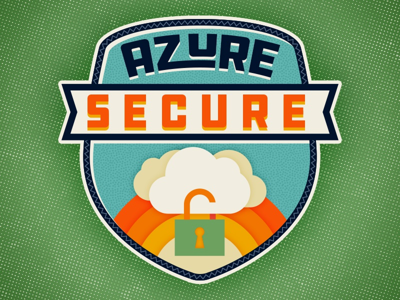 Camp Azure azure secure lock cloud illustration badge camp