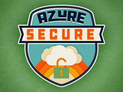 Camp Azure azure secure lock cloud illustration badge camp