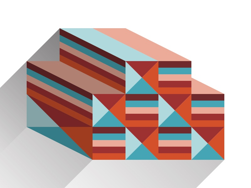 Boxes n such pattern geometric illustration