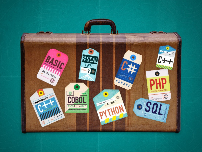 Travel tags for Developers microsoft cloud azure retro devs programming language tags vintage travel