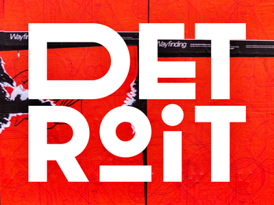 Detroit type street deco san serif type detroit