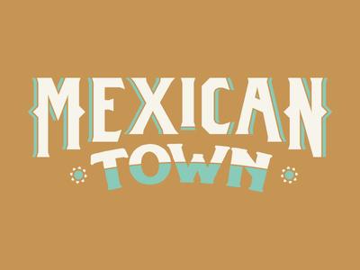 Mexicantown Detroit type art identity detroit mexican vintage type badge logo