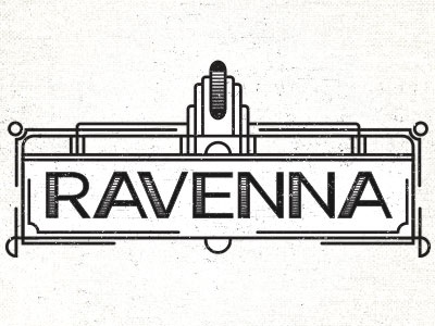 Ravenna seattle logo art deco vintage