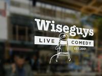 "Wiseguys: ""Retro Logo"" Mockup"