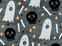Halloween Skulls Pattern