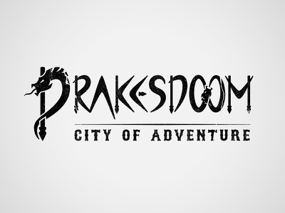 Drakesdoom: Final Logo logo rpg illustrator photoshop drake dragon ballista