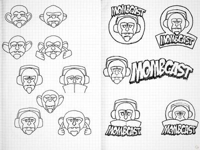 Mombcast 2013 sketches logo sketch sketchbook