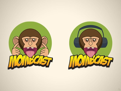 MOMBcast 2013 Logos 2-up logo illustrator monkey