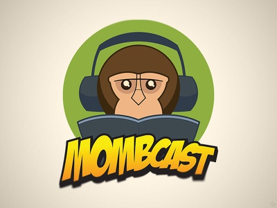 Mombcast 2013 Logo 1-up logo illustrator monkey