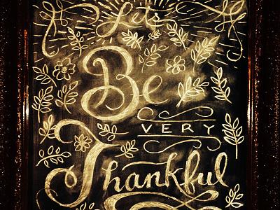 Thankful Dribbble chalk chalkboard typography thanks
