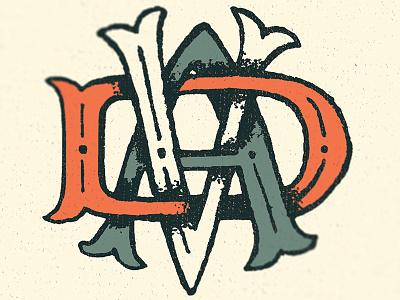 Monogram typography logo hand-drawn monogram tattoo