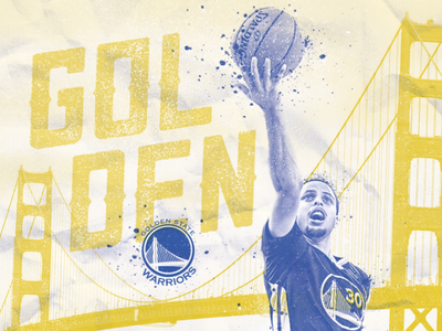 Golden golden state warriors poster photoshop steph curry