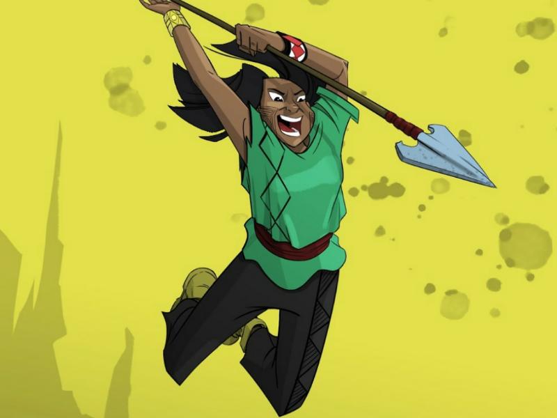 Character Design Illustration - Tuíra colors illustration character design character brazilian brazil indigenous